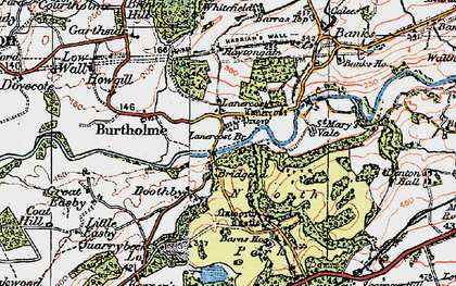 Old map of Lanercost in 1925