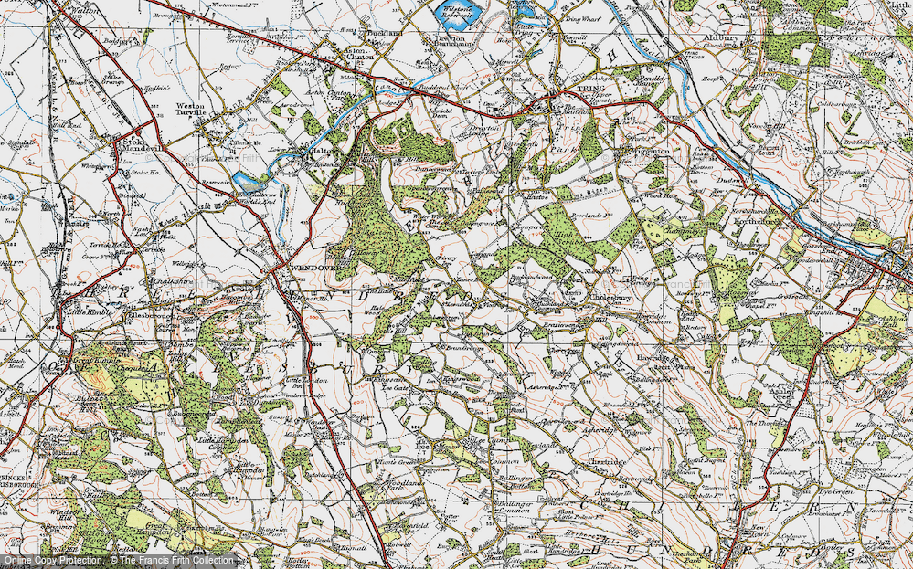 Old Map of Lanes End, 1919 in 1919