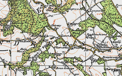 Old map of Lanes End in 1919