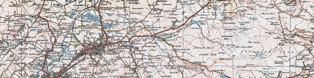 Old map of Laneshaw Bridge in 1925