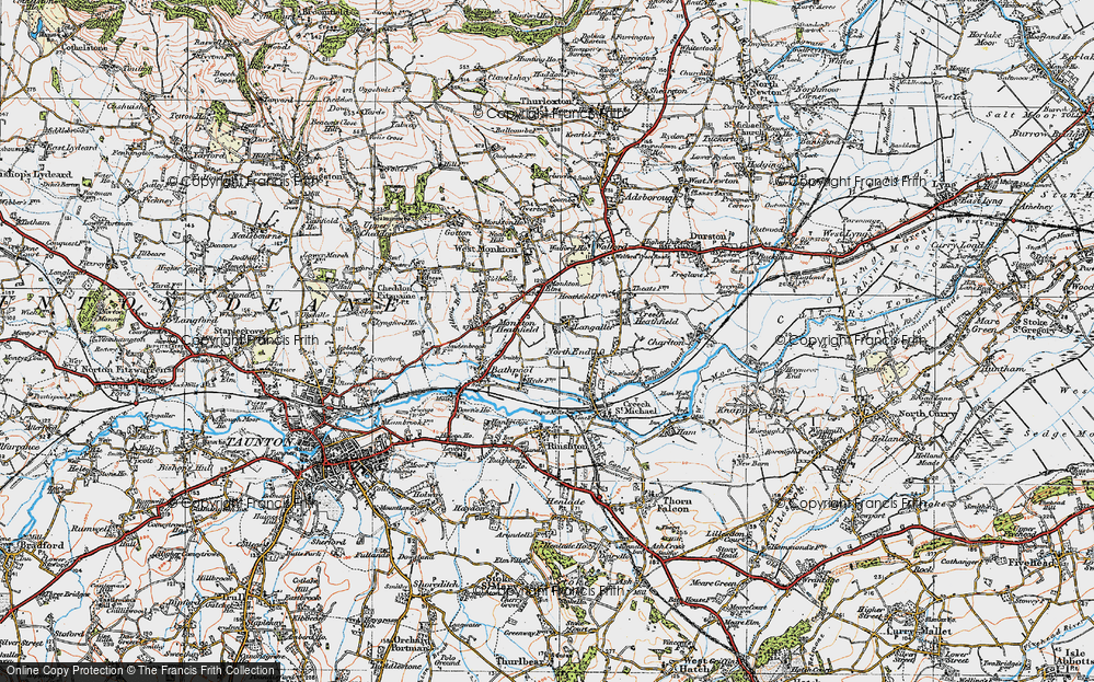 Old Map of Langaller, 1919 in 1919