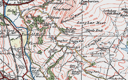 Old map of Ling Park in 1925