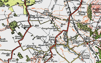 Old map of Langbaurgh in 1925