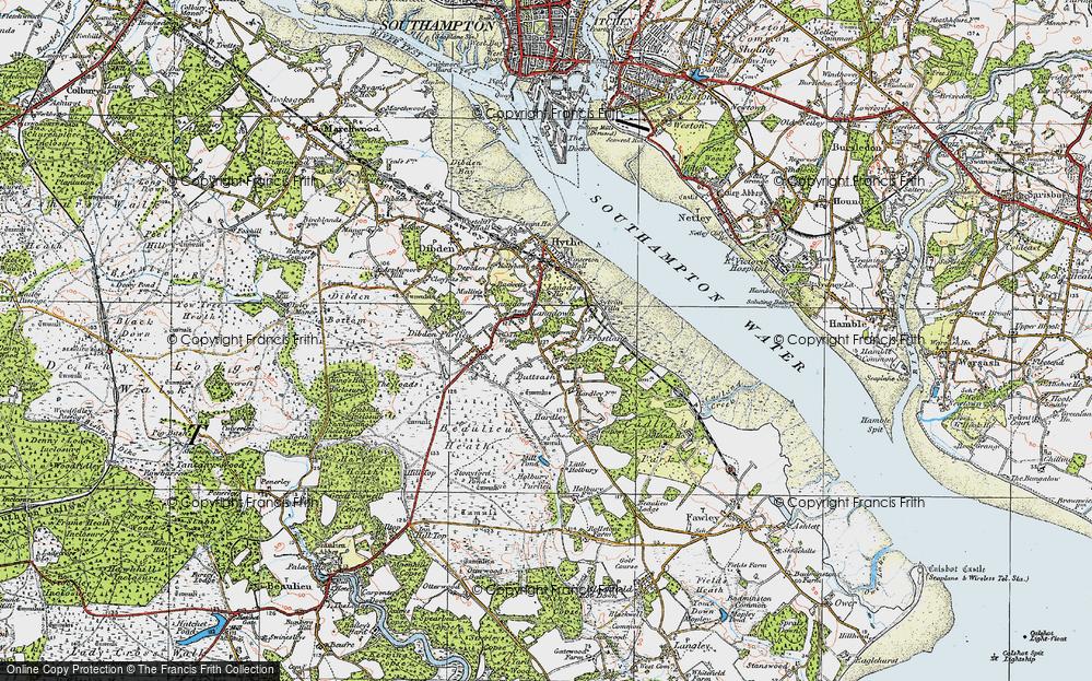 Old Map of Langdown, 1919 in 1919