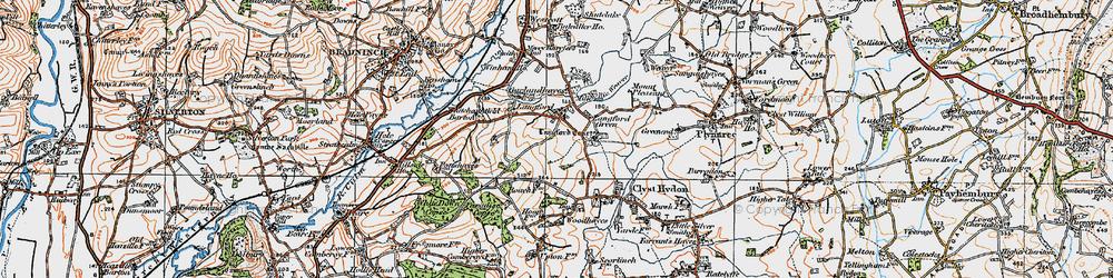 Old map of Winham in 1919