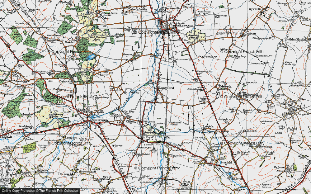 Old Map of Langford, 1919 in 1919