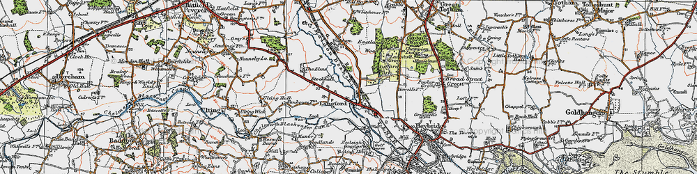 Old map of Wickham Place in 1921