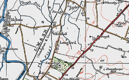 Old map of Langford Hall in 1923