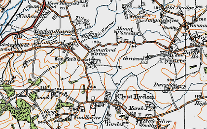 Old map of Langford Court in 1919