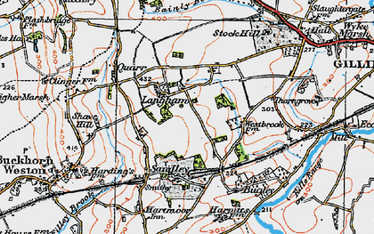 Old map of Bainly Bottom in 1919