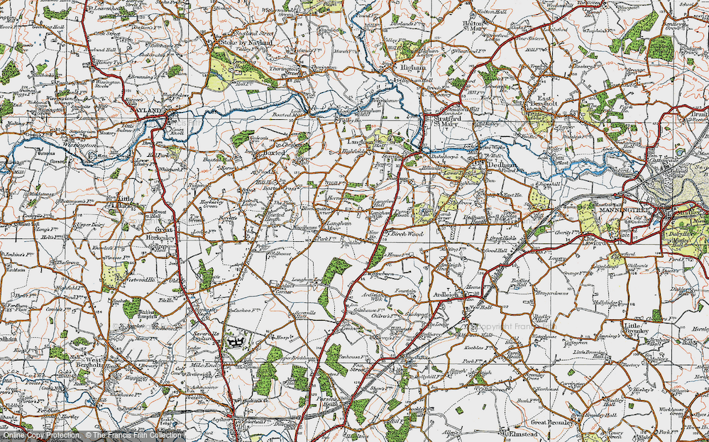 Old Map of Langham, 1921 in 1921