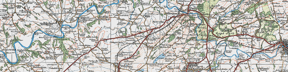 Old map of Langho in 1924