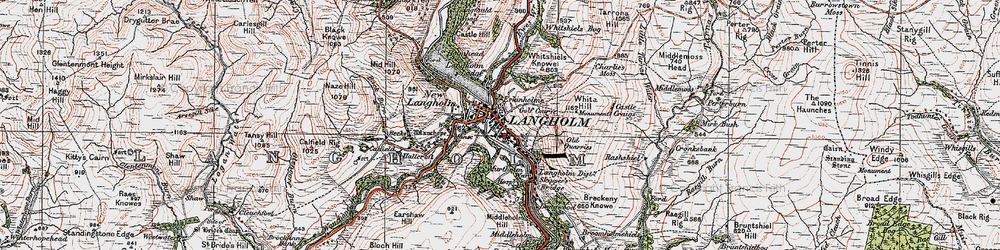 Old map of Whita Hill in 1925