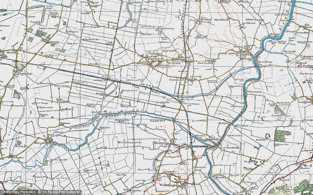 Old Map of Langholme, 1923 in 1923
