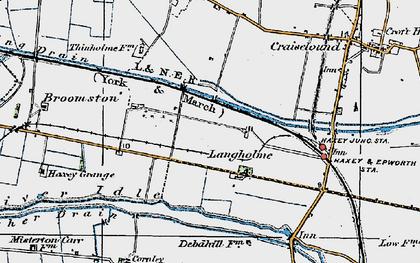 Old map of Langholme in 1923