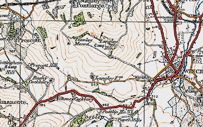 Old map of Langley Hill in 1919