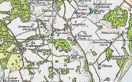 Old map of Langley in 1919