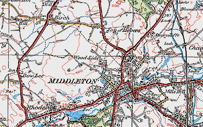 Old map of Langley in 1924