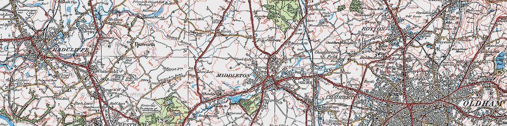 Old map of Alkrington Hall in 1924