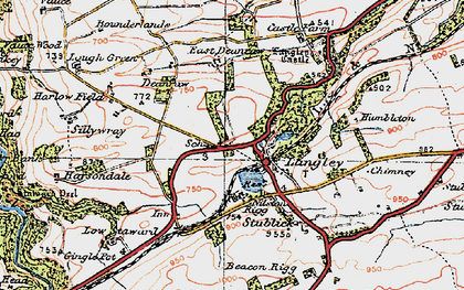 Old map of Langley in 1925