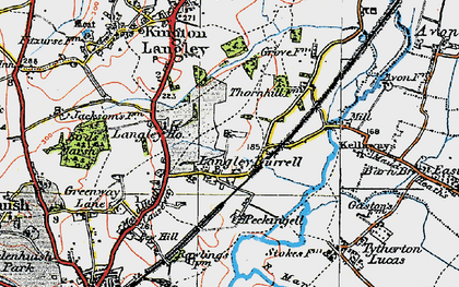 Old map of Langley Ho in 1919
