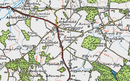 Old map of Langley Common in 1919