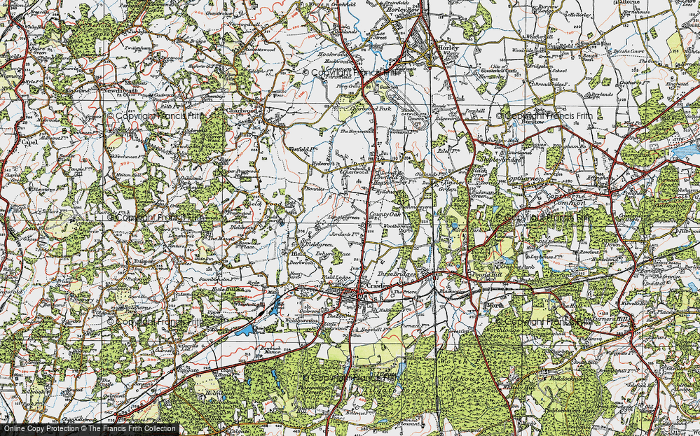 Old Map of Langley Green, 1920 in 1920