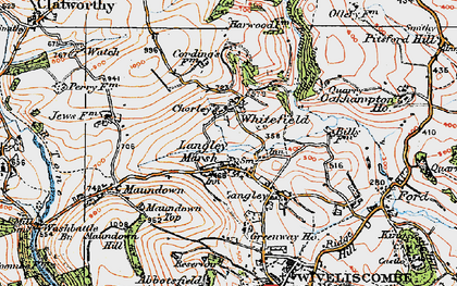 Old map of Langley Marsh in 1919