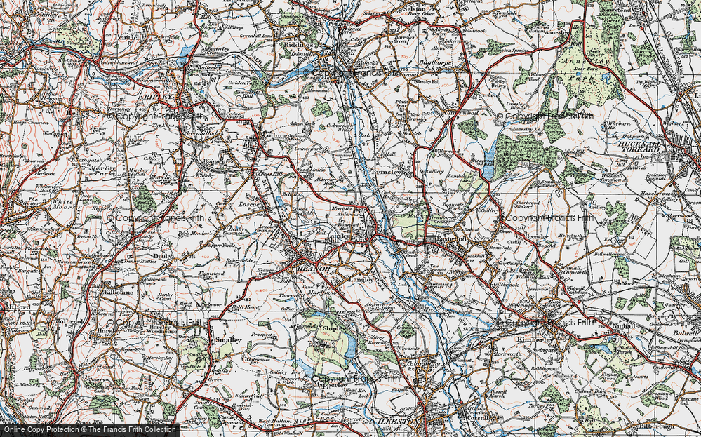 Old Map of Langley Mill, 1921 in 1921
