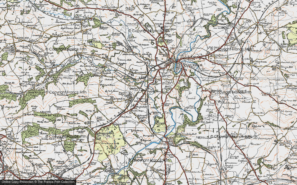 Old Map of Langley Moor, 1925 in 1925
