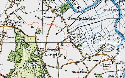 Old map of Langley Street in 1922