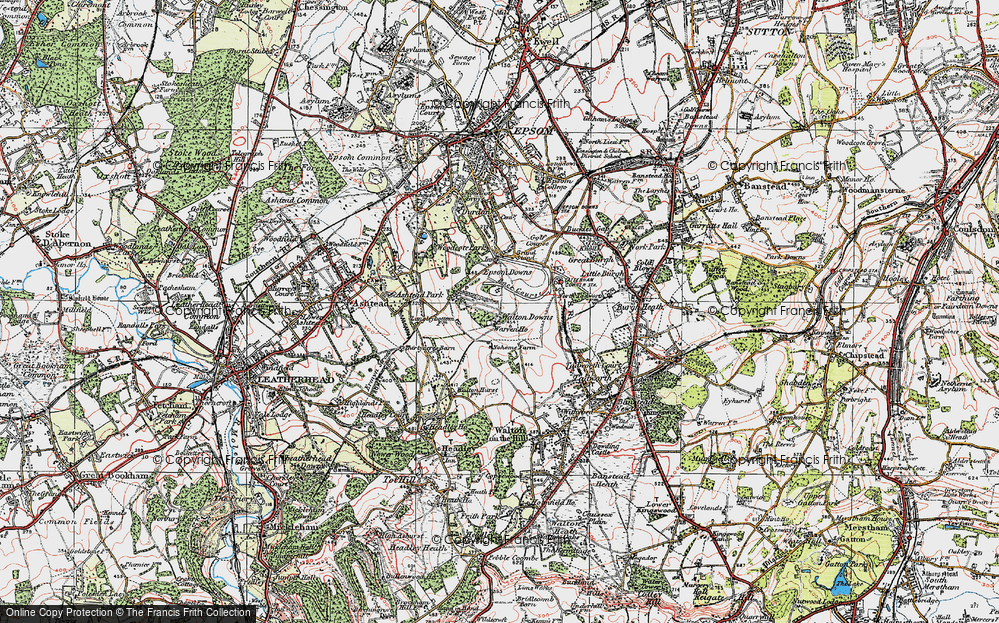 Old Map of Langley Vale, 1920 in 1920
