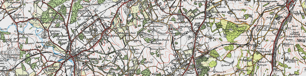 Old map of Langley Vale in 1920