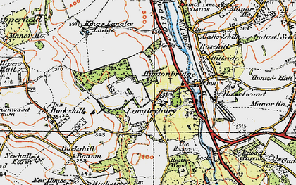 Old map of Langleybury in 1920