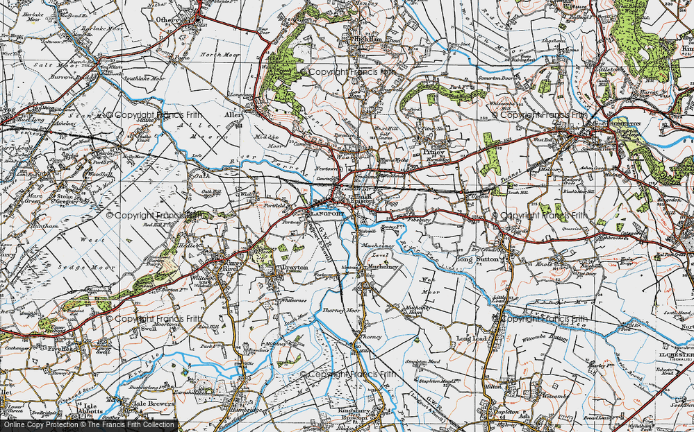Old Map of Langport, 1919 in 1919