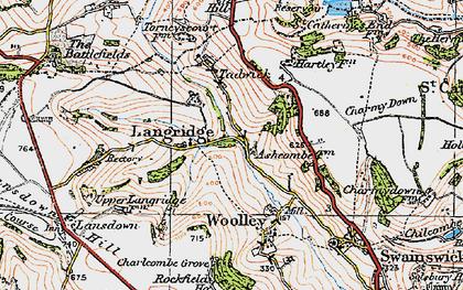 Old map of Langridge Ho in 1919