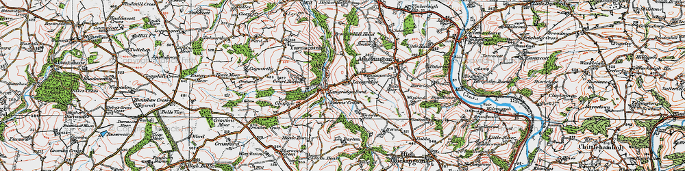 Old map of Langridgeford in 1919
