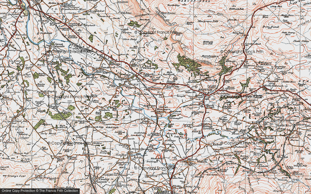 Old Map of Langrigg, 1925 in 1925