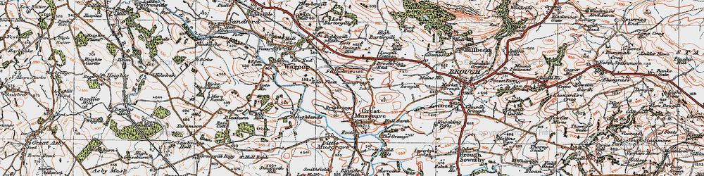 Old map of Langrigg in 1925