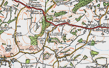 Old map of Langrish in 1919
