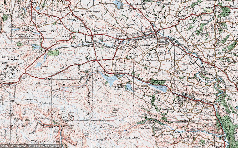 Old Map of Langsett, 1924 in 1924