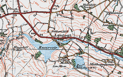 Old map of Langsett Resr in 1924