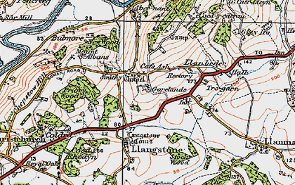 Old map of Langstone in 1919