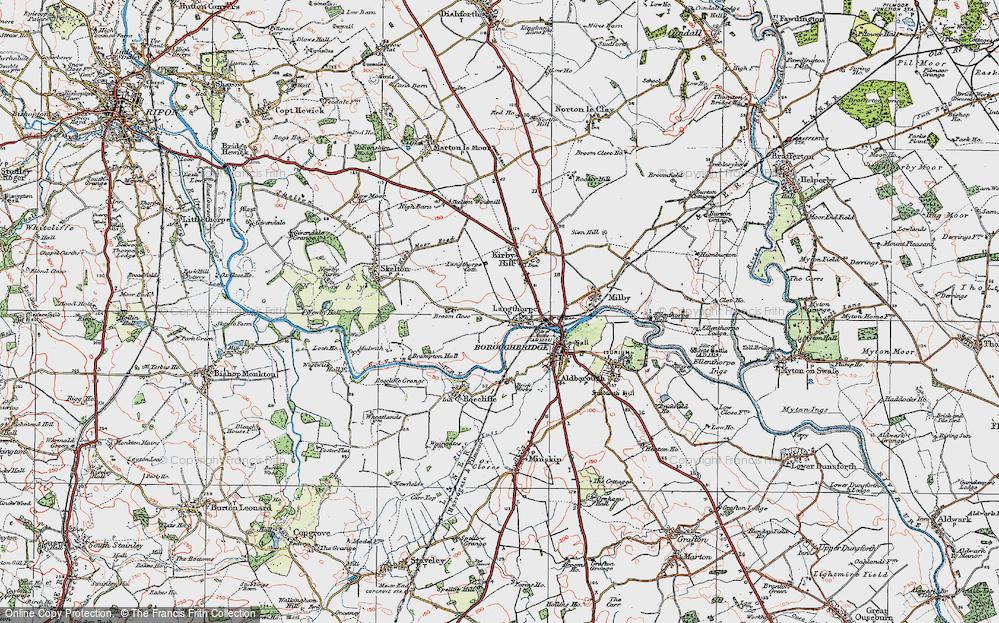 Old Map of Langthorpe, 1925 in 1925