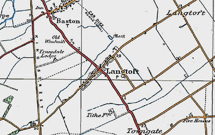 Old map of Willowfield in 1922