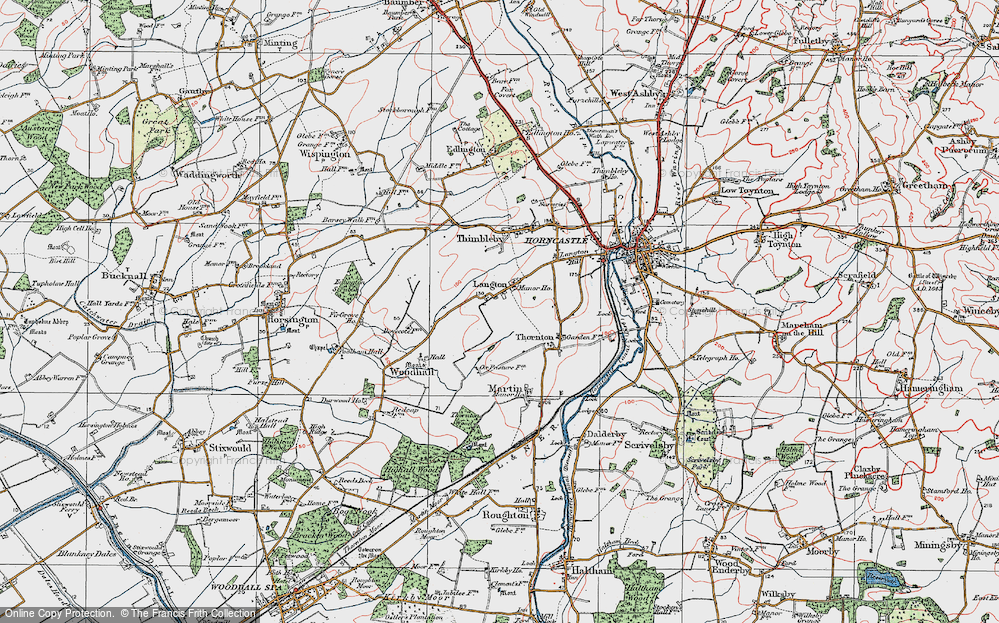 Old Map of Langton, 1923 in 1923