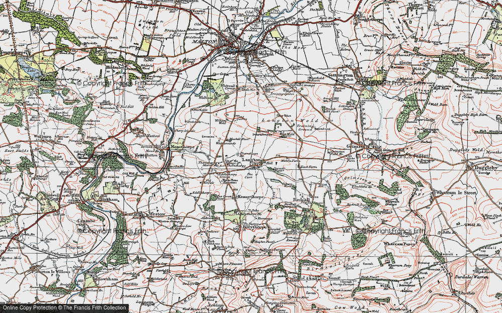 Old Map of Historic Map covering Whitegrounds in 1924