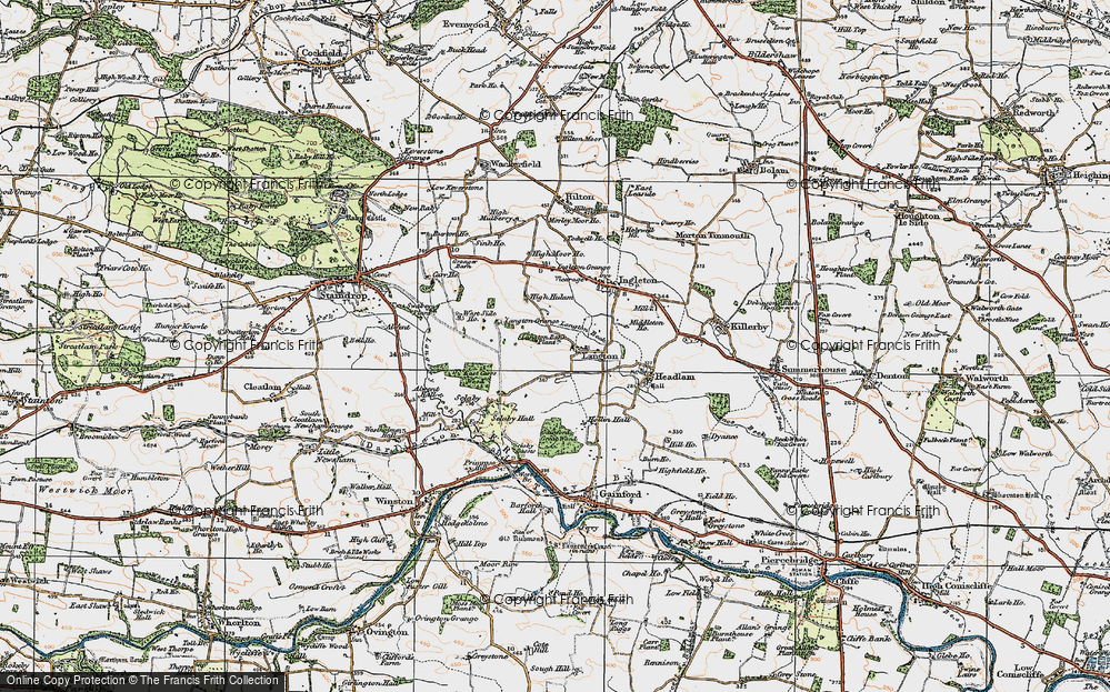 Old Map of Langton, 1925 in 1925