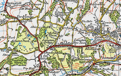 Old map of Langton Green in 1920