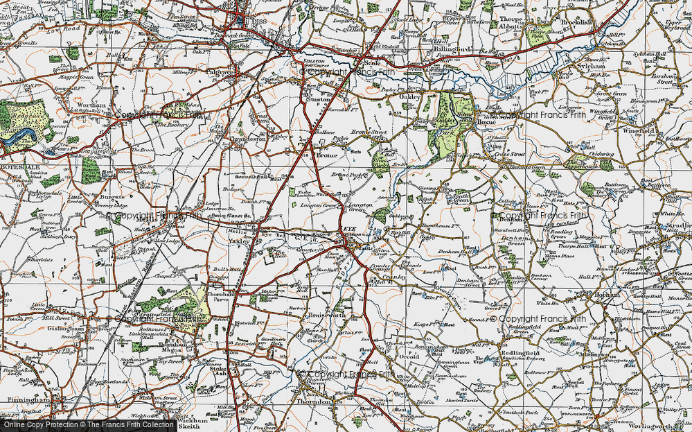 Old Map of Langton Green, 1921 in 1921